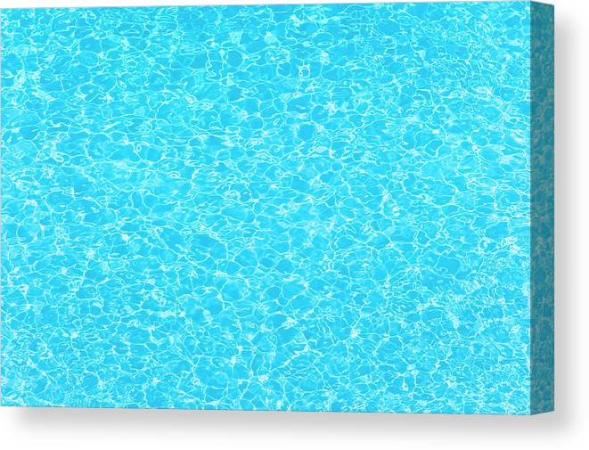 Cool Attitude Canvas Print featuring the photograph Water Wave Pattern Of Swimming Pool by Anddraw