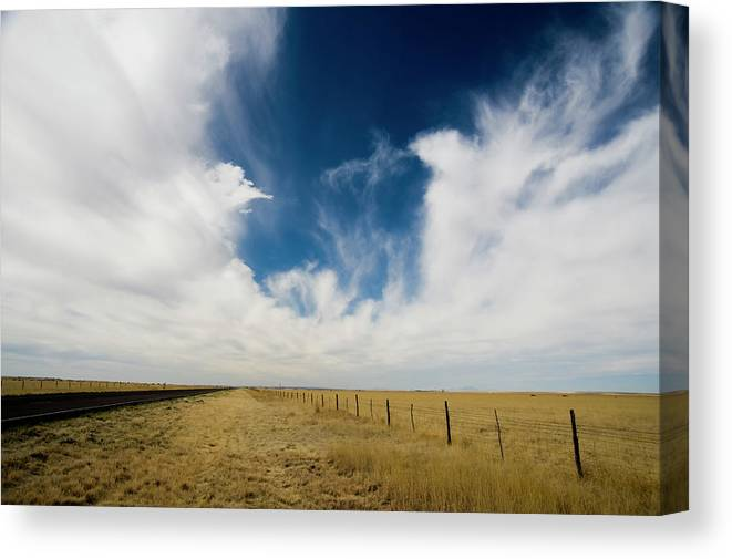 Scenics Canvas Print featuring the photograph West Texas Grasslands United States Of by Tier Images