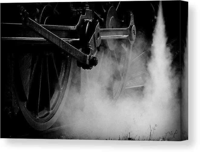 Vehicle Part Canvas Print featuring the photograph Wheels State Railway Of Thailand Srt by Nobythai