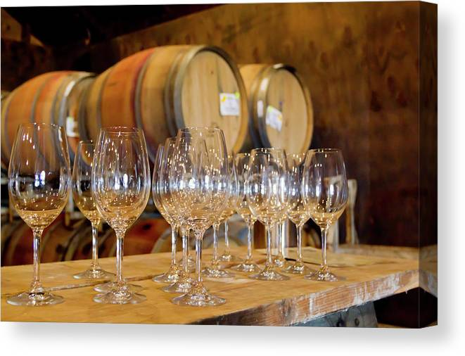 Alcohol Canvas Print featuring the photograph Wine Tasting Room by Creativeye99