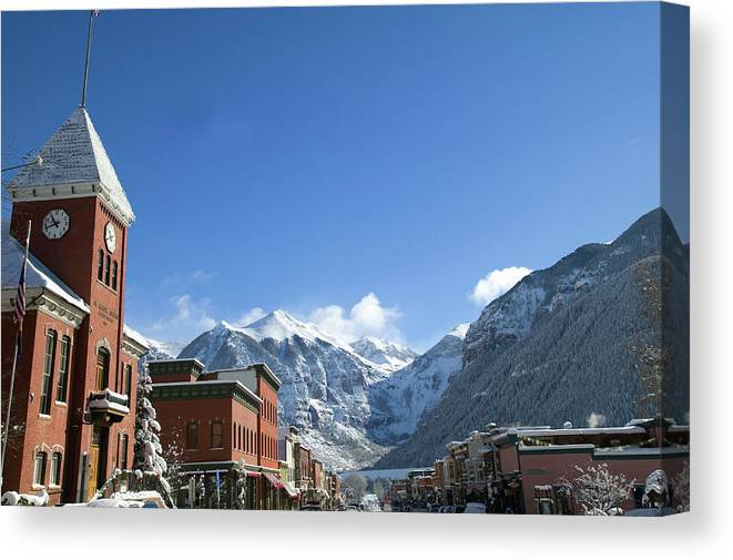 Scenics Canvas Print featuring the photograph Winter Telluride Colorado by Dougberry