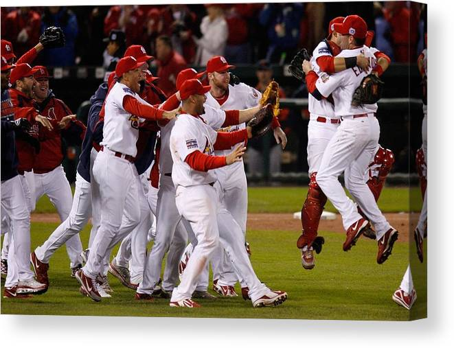St. Louis Cardinals Canvas Print featuring the photograph World Series Game 5 Detroit Tigers V by Dilip Vishwanat