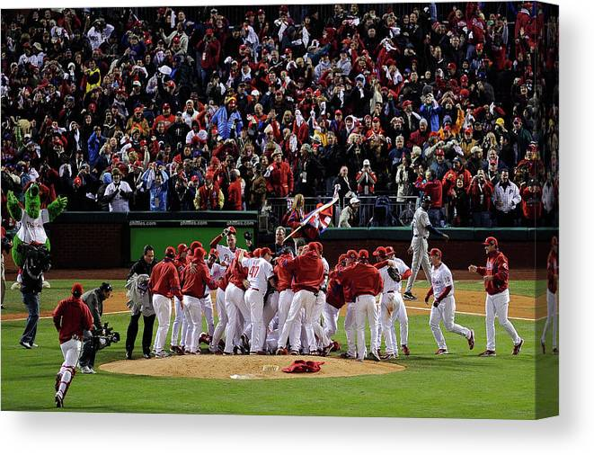 Celebration Canvas Print featuring the photograph World Series Tampa Bay Rays V by Jeff Zelevansky