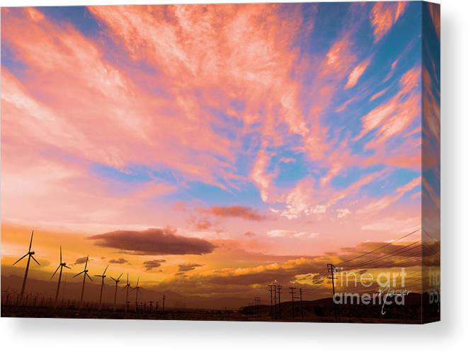California Desert Canvas Print featuring the photograph 0278 Southern California Desert Sunsets by Amyn Nasser