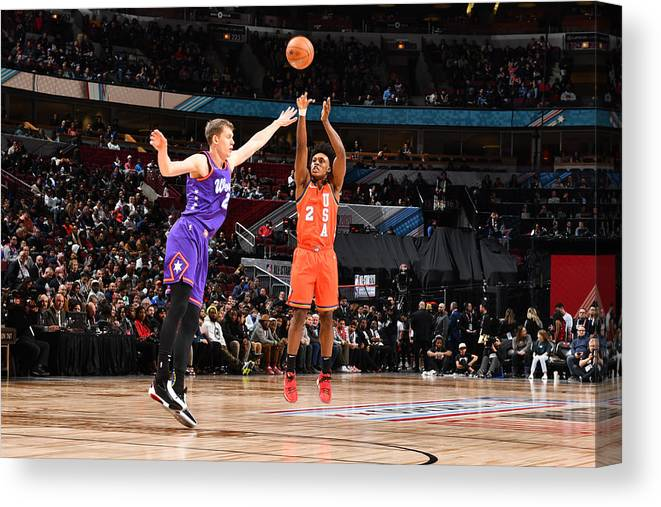 Nba Pro Basketball Canvas Print featuring the photograph 2020 NBA All-Star - Rising Stars Game by Jesse D. Garrabrant