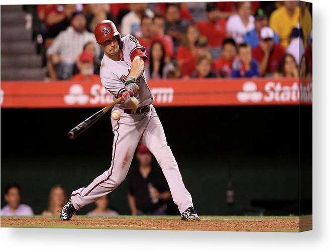Ninth Inning Canvas Print featuring the photograph A. J. Pollock by Stephen Dunn