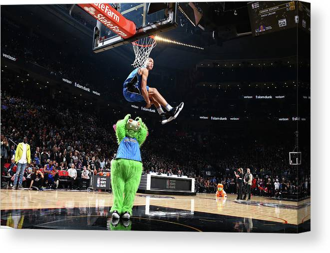 Event Canvas Print featuring the photograph Aaron Gordon by Nathaniel S. Butler