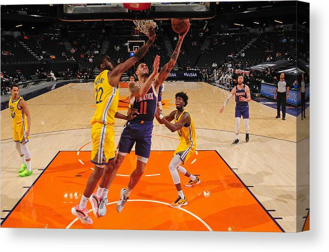 Nba Pro Basketball Canvas Print featuring the photograph Abdel Nader by Barry Gossage