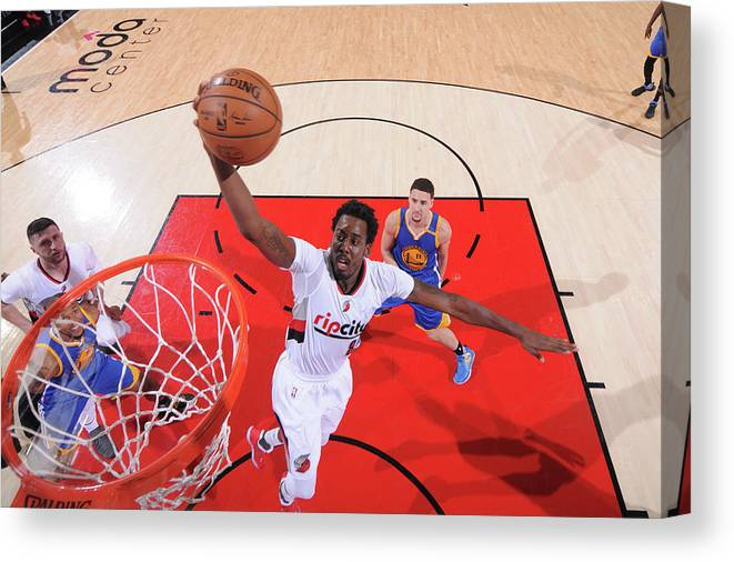 Playoffs Canvas Print featuring the photograph Al-farouq Aminu by Sam Forencich
