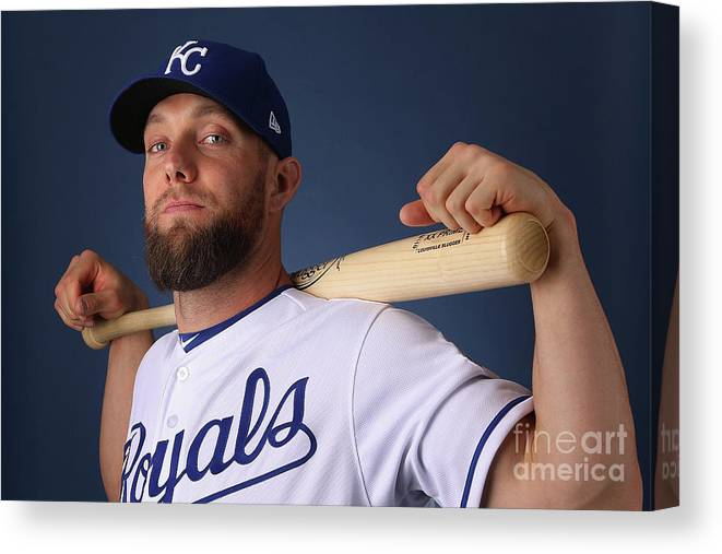 Media Day Canvas Print featuring the photograph Alex Gordon by Christian Petersen