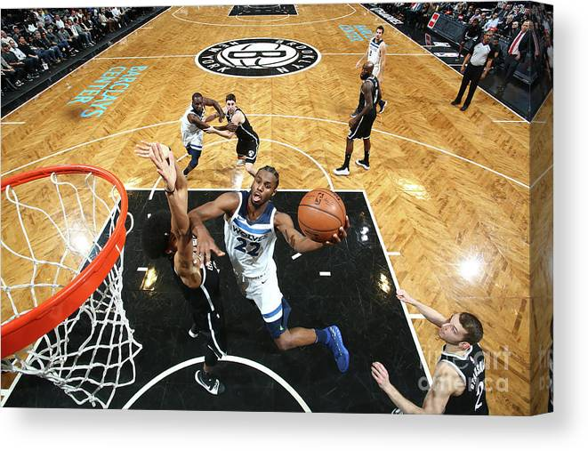 Nba Pro Basketball Canvas Print featuring the photograph Andrew Wiggins by Nathaniel S. Butler