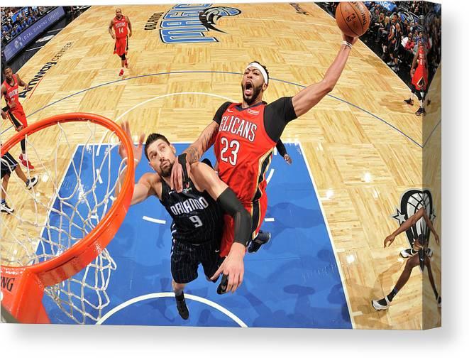Nba Pro Basketball Canvas Print featuring the photograph Anthony Davis by Fernando Medina