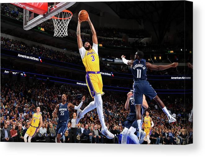 Nba Pro Basketball Canvas Print featuring the photograph Anthony Davis by Jesse D. Garrabrant
