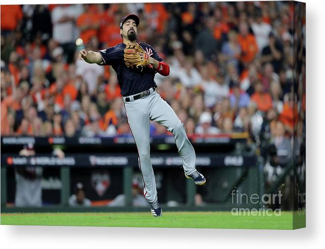 American League Baseball Canvas Print featuring the photograph Anthony Rendon by Elsa