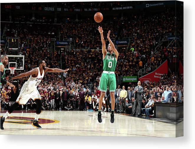 Playoffs Canvas Print featuring the photograph Avery Bradley by Nathaniel S. Butler