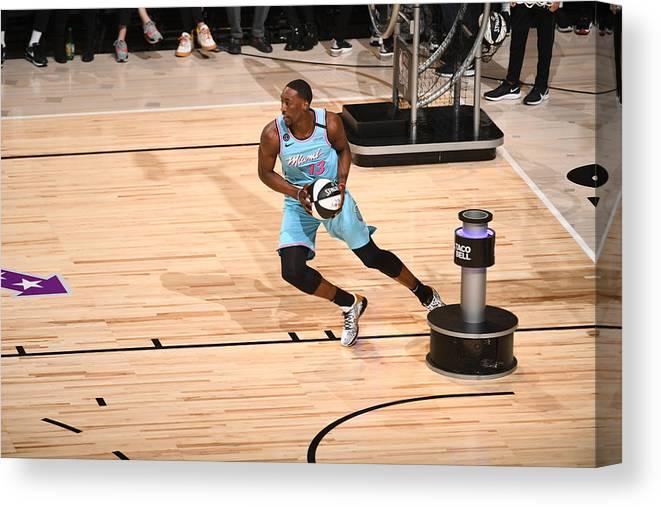 Nba Pro Basketball Canvas Print featuring the photograph Bam Adebayo by Garrett Ellwood