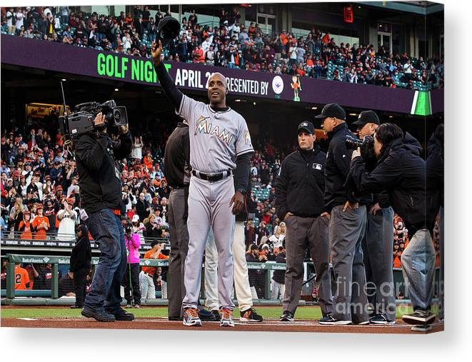 San Francisco Canvas Print featuring the photograph Barry Bonds by Jason O. Watson