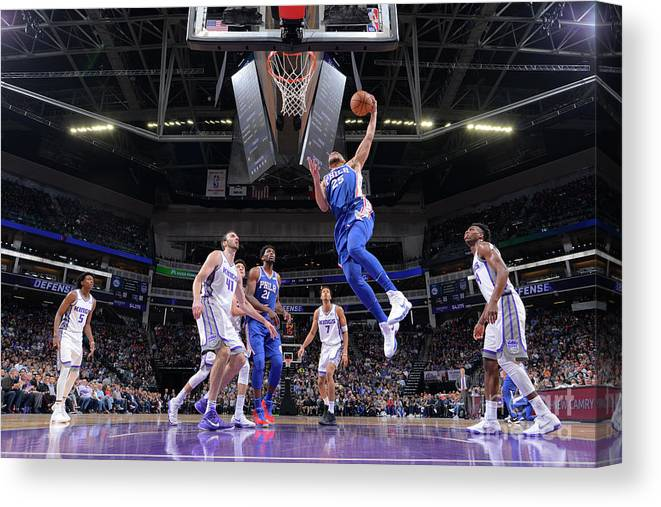 Nba Pro Basketball Canvas Print featuring the photograph Ben Simmons by Rocky Widner