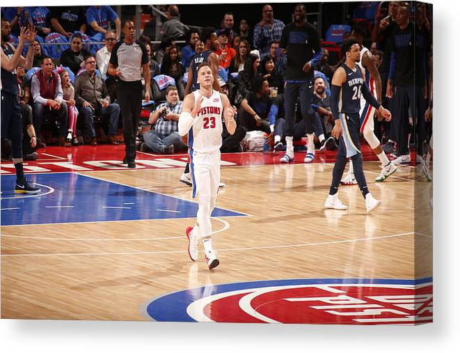 Nba Pro Basketball Canvas Print featuring the photograph Blake Griffin by Brian Sevald