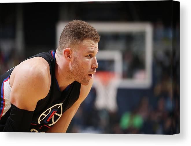 Nba Pro Basketball Canvas Print featuring the photograph Blake Griffin by Joe Murphy