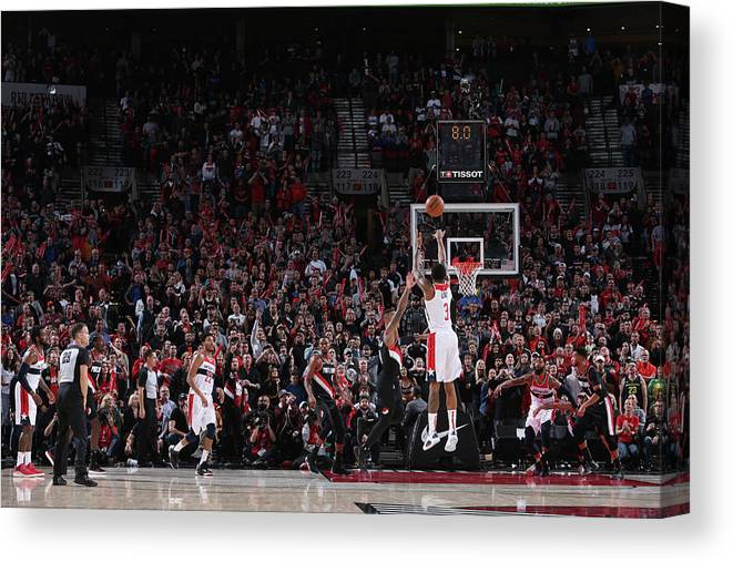 Nba Pro Basketball Canvas Print featuring the photograph Bradley Beal by Sam Forencich