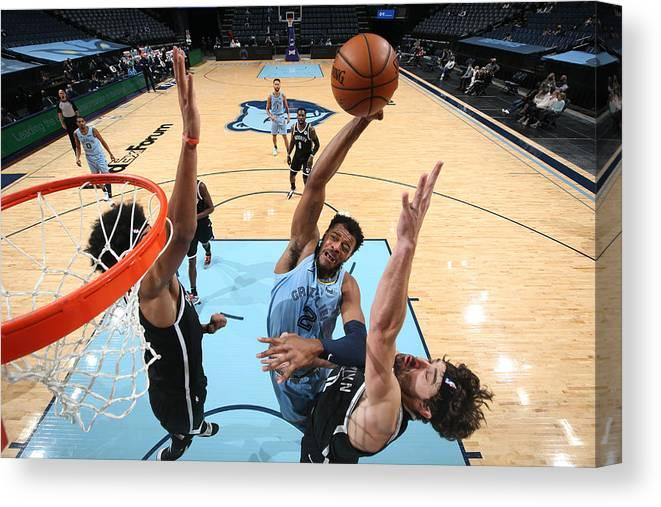 Nba Pro Basketball Canvas Print featuring the photograph Brooklyn Nets v Memphis Grizzlies by Joe Murphy