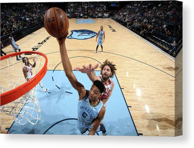 Nba Pro Basketball Canvas Print featuring the photograph Bruno Caboclo by Joe Murphy