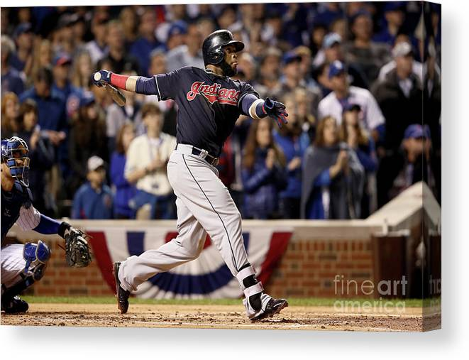 Second Inning Canvas Print featuring the photograph Carlos Santana by Ezra Shaw