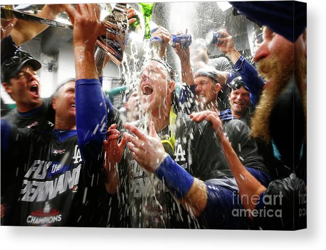 Championship Canvas Print featuring the photograph Chase Utley by Jamie Squire