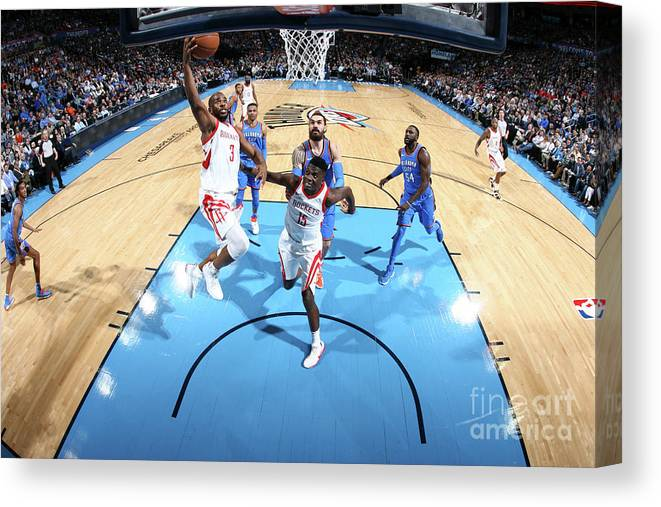 Nba Pro Basketball Canvas Print featuring the photograph Chris Paul by Layne Murdoch