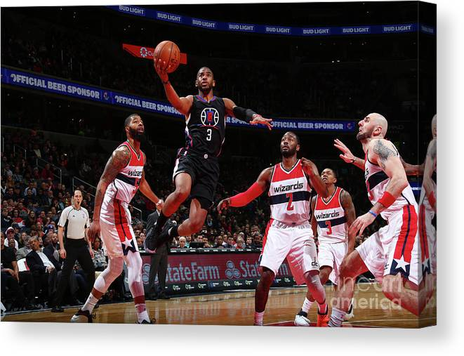 Nba Pro Basketball Canvas Print featuring the photograph Chris Paul by Ned Dishman