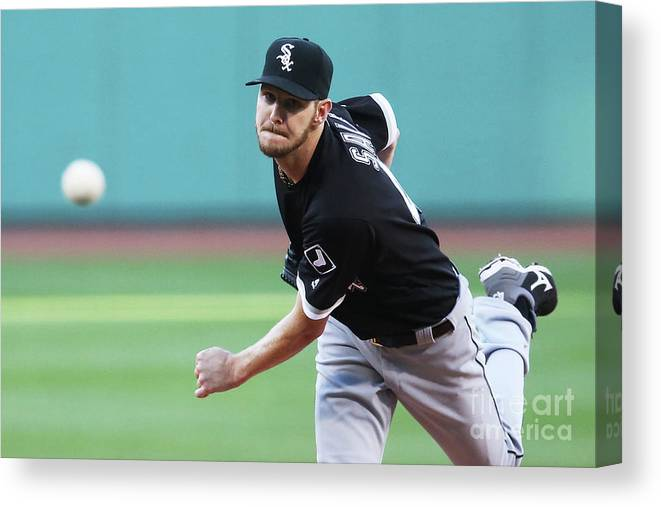 People Canvas Print featuring the photograph Chris Sale by Adam Glanzman