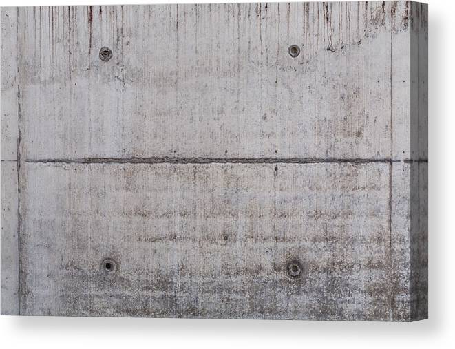 Material Canvas Print featuring the photograph Concrete Wall Background by R.Tsubin