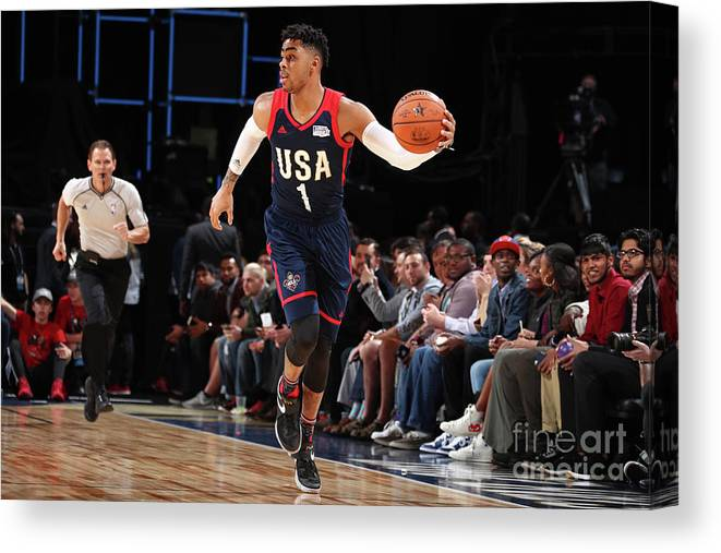 Event Canvas Print featuring the photograph D'angelo Russell by Nathaniel S. Butler