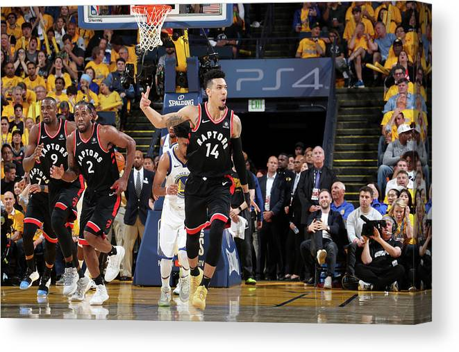 Playoffs Canvas Print featuring the photograph Danny Green by Nathaniel S. Butler