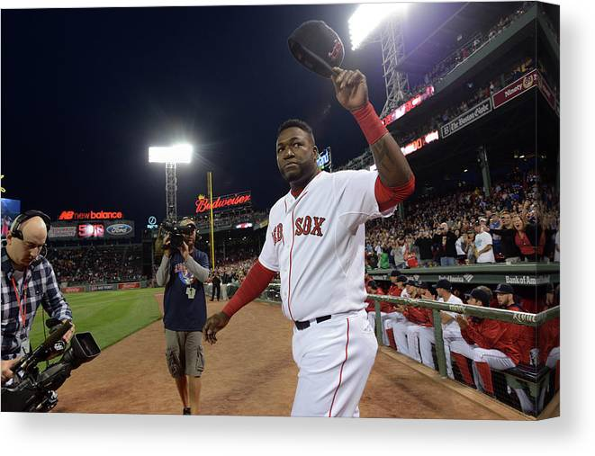 Crowd Canvas Print featuring the photograph David Ortiz by Darren Mccollester