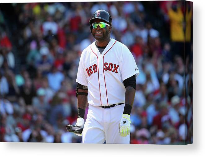 Three Quarter Length Canvas Print featuring the photograph David Ortiz by Maddie Meyer