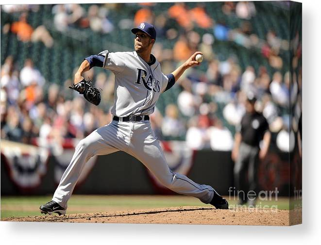 David Price Canvas Print featuring the photograph David Price by G Fiume