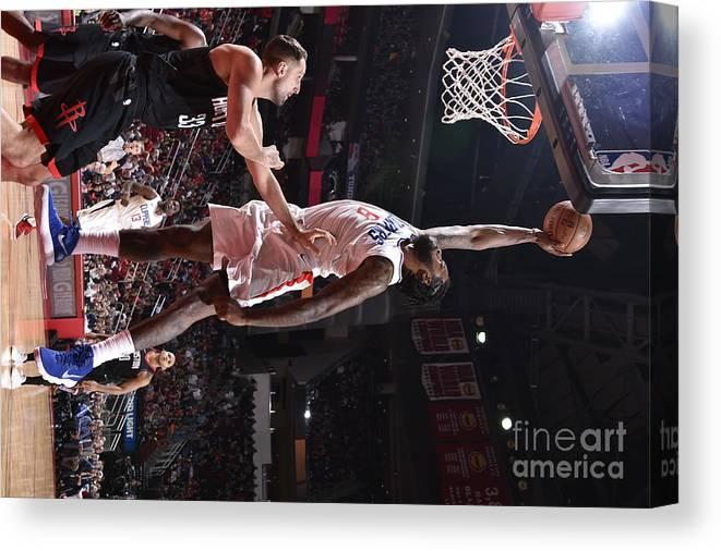Nba Pro Basketball Canvas Print featuring the photograph Deandre Jordan by Bill Baptist