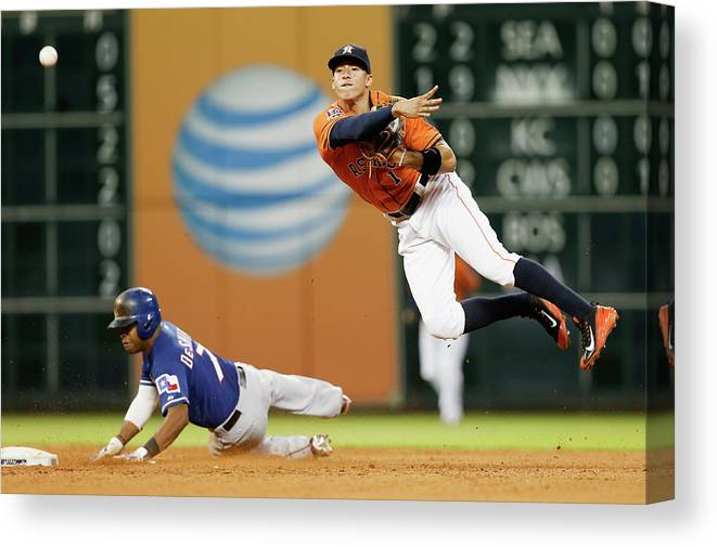People Canvas Print featuring the photograph Delino Deshields by Bob Levey
