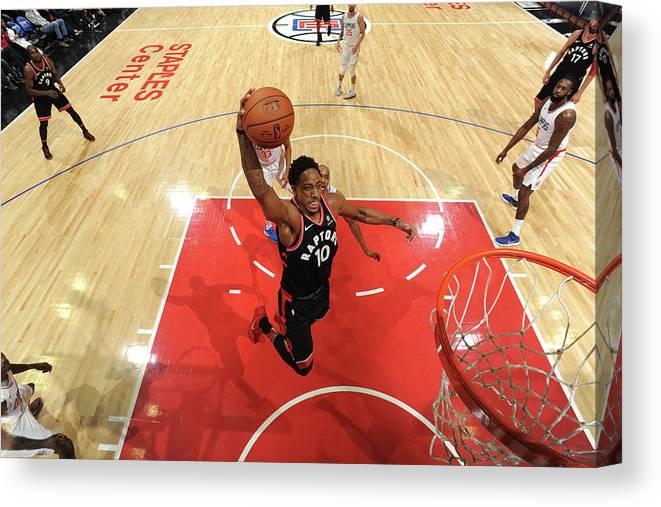 Nba Pro Basketball Canvas Print featuring the photograph Demar Derozan by Andrew D. Bernstein
