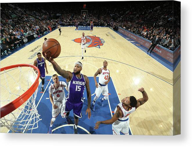 Nba Pro Basketball Canvas Print featuring the photograph Demarcus Cousins by Nathaniel S. Butler
