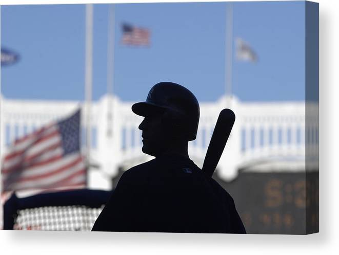 Event Canvas Print featuring the photograph Derek Jeter by Ezra Shaw