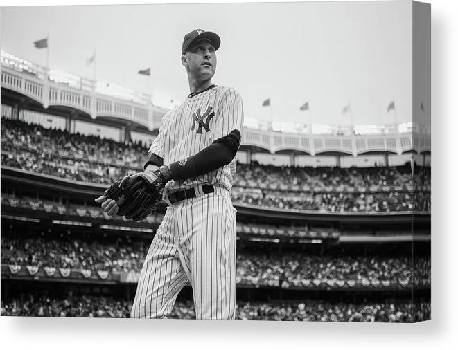 Derek Jeter Canvas Print featuring the photograph Derek Jeter by Rob Tringali