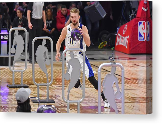 Nba Pro Basketball Canvas Print featuring the photograph Domantas Sabonis by Bill Baptist