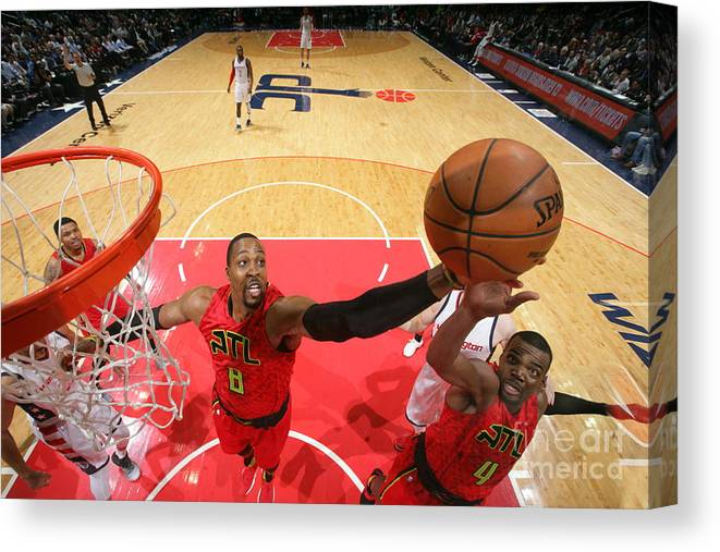 Playoffs Canvas Print featuring the photograph Dwight Howard by Ned Dishman