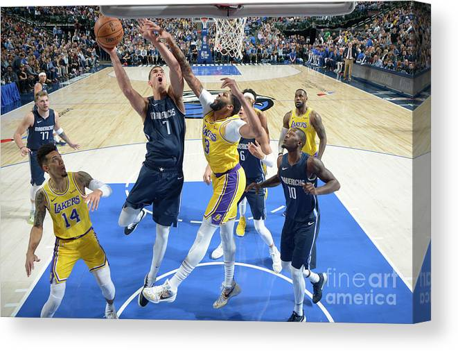 Dwight Powell Canvas Print featuring the photograph Dwight Powell by Glenn James