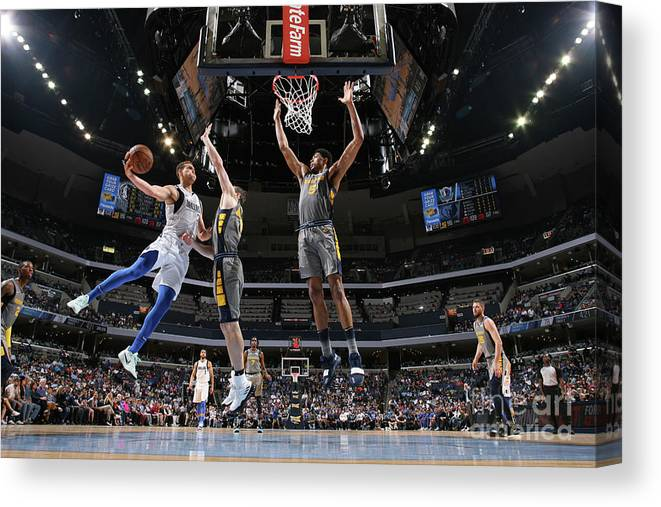 Dwight Powell Canvas Print featuring the photograph Dwight Powell by Joe Murphy