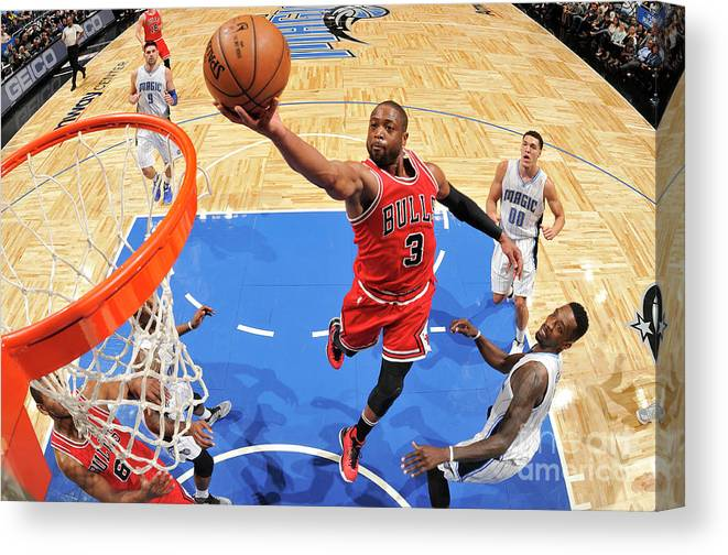 Nba Pro Basketball Canvas Print featuring the photograph Dwyane Wade by Fernando Medina