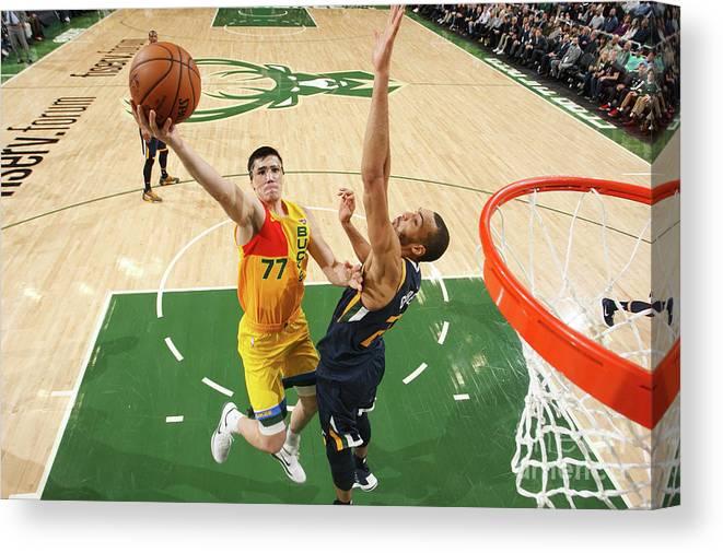 Nba Pro Basketball Canvas Print featuring the photograph Ersan Ilyasova by Gary Dineen